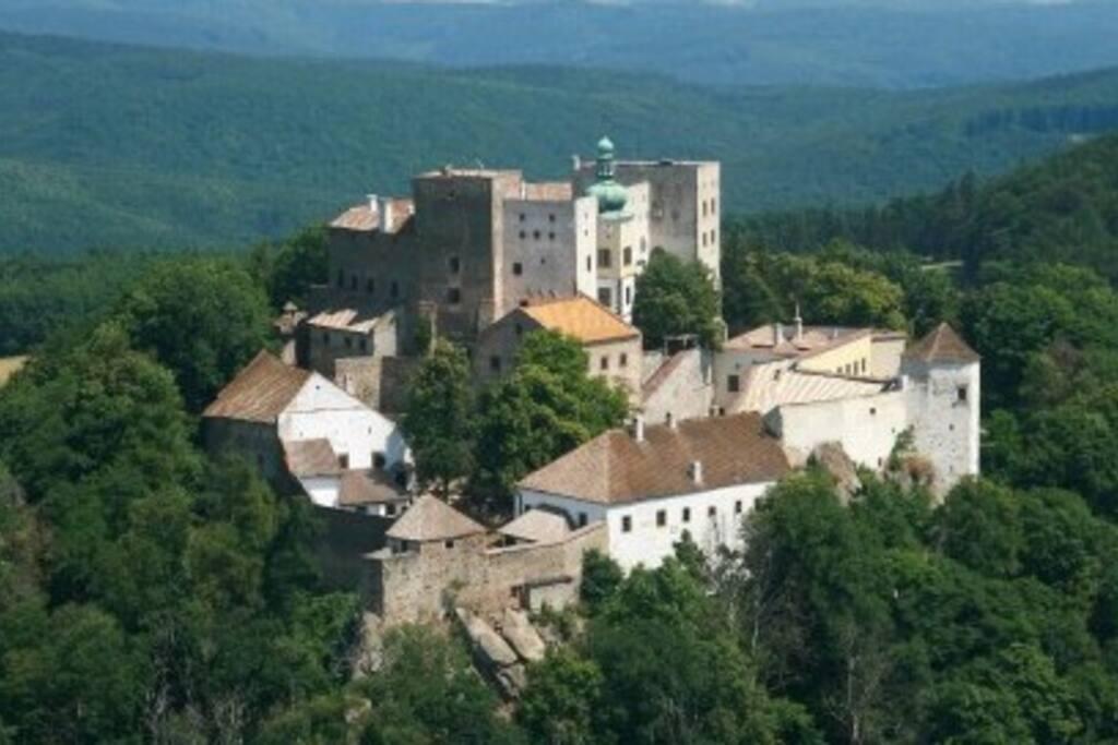Buchlov castle situated 3 km far away.