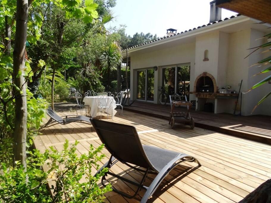 Villa avec piscine au cap ferret maisons louer cap for Maison a louer cap ferret avec piscine
