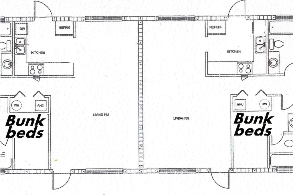 Floor Plan of Beachy Keen and Just Beachy