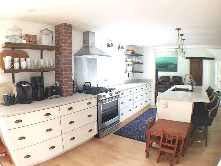 Expansive brand new kitchen perfect for cooking with family and friends