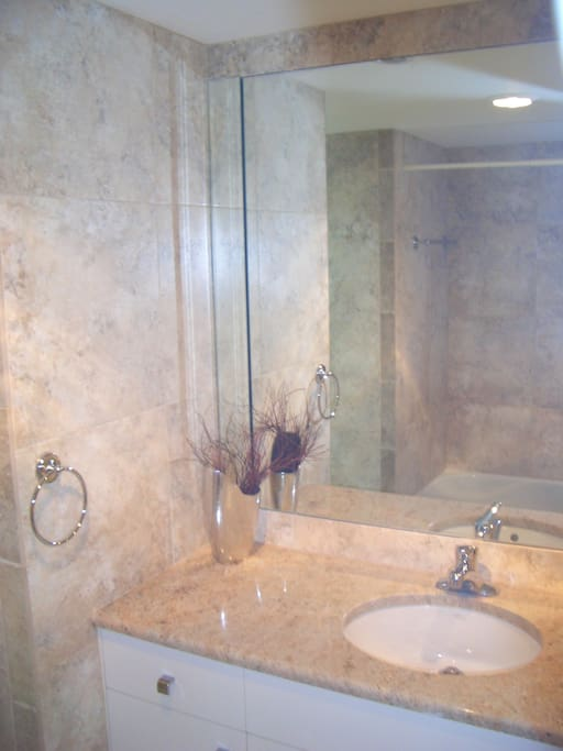 1 bathroom with a tub and shower head