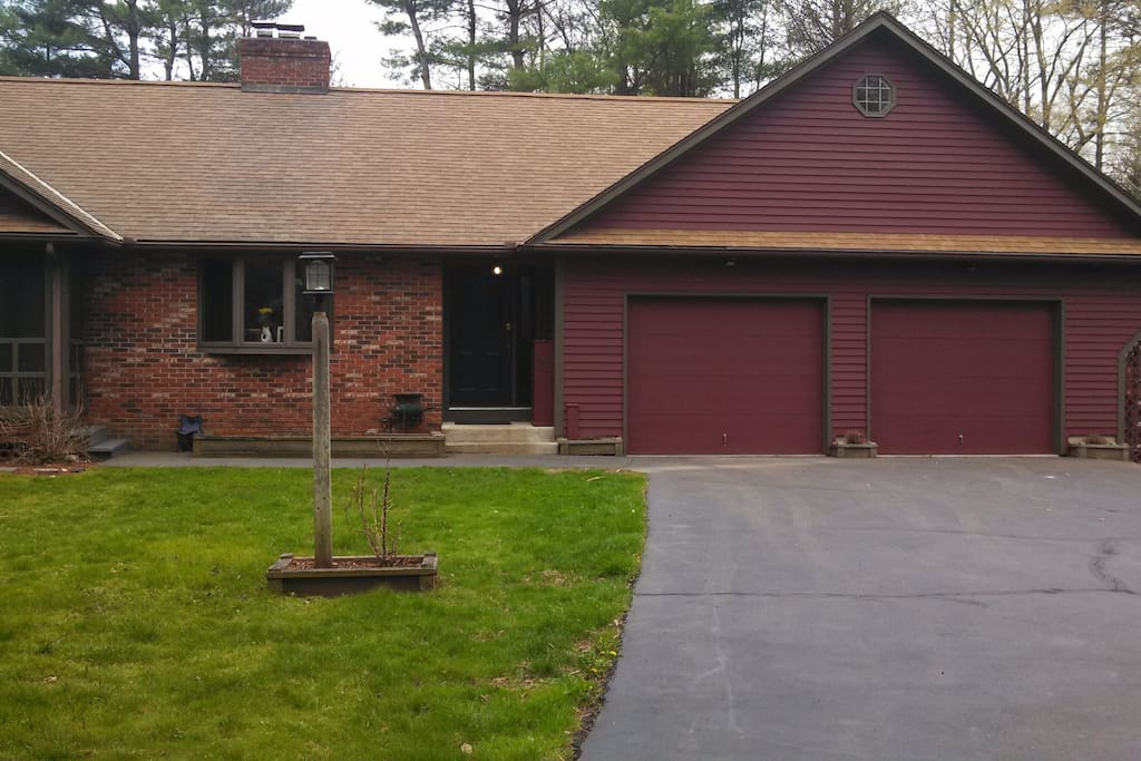 House exterior - guests park in garage on right