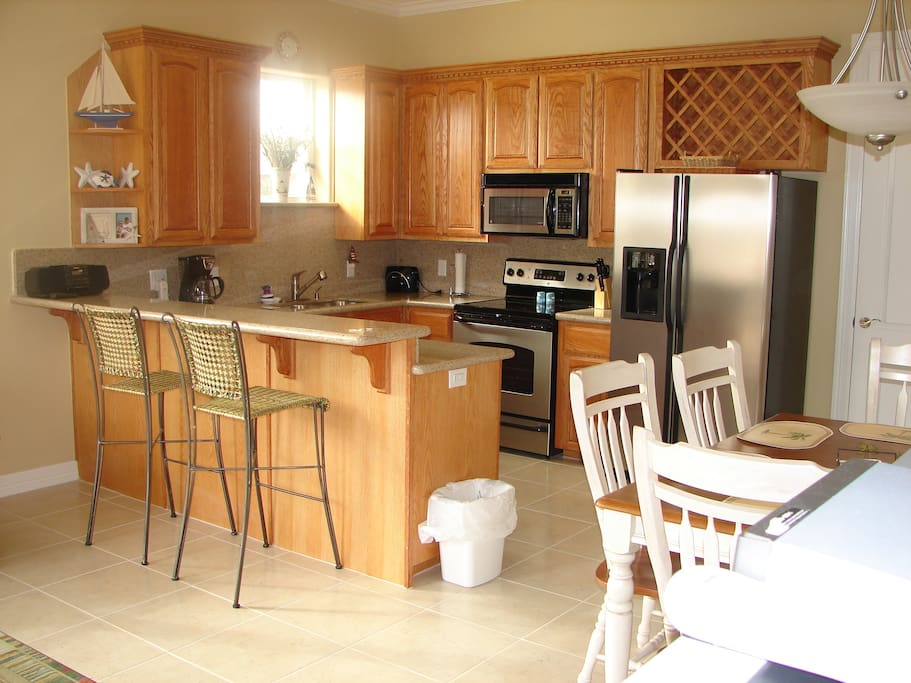 Spacious kitchen perfect for families.