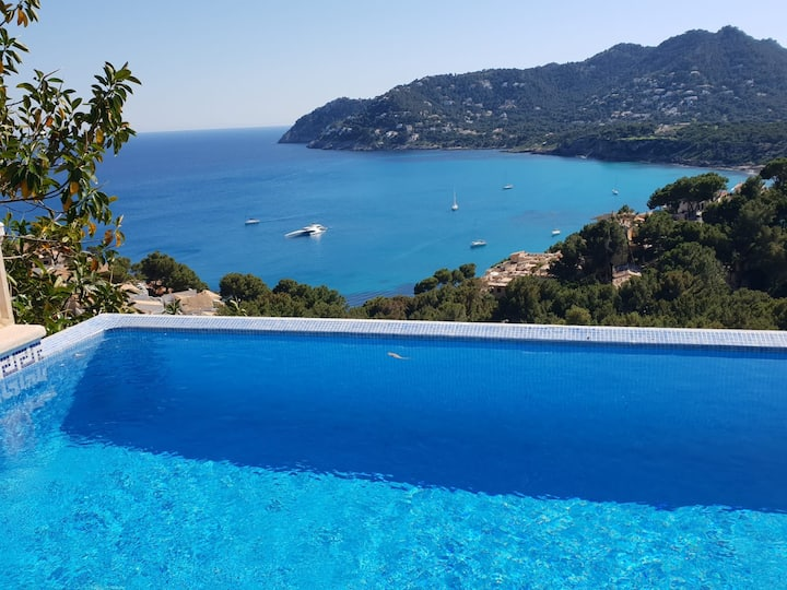Amazing view from cliff side residence in Mallorca