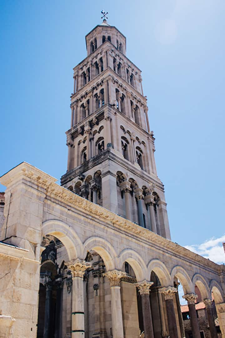 The belfry of the cathedral in Split