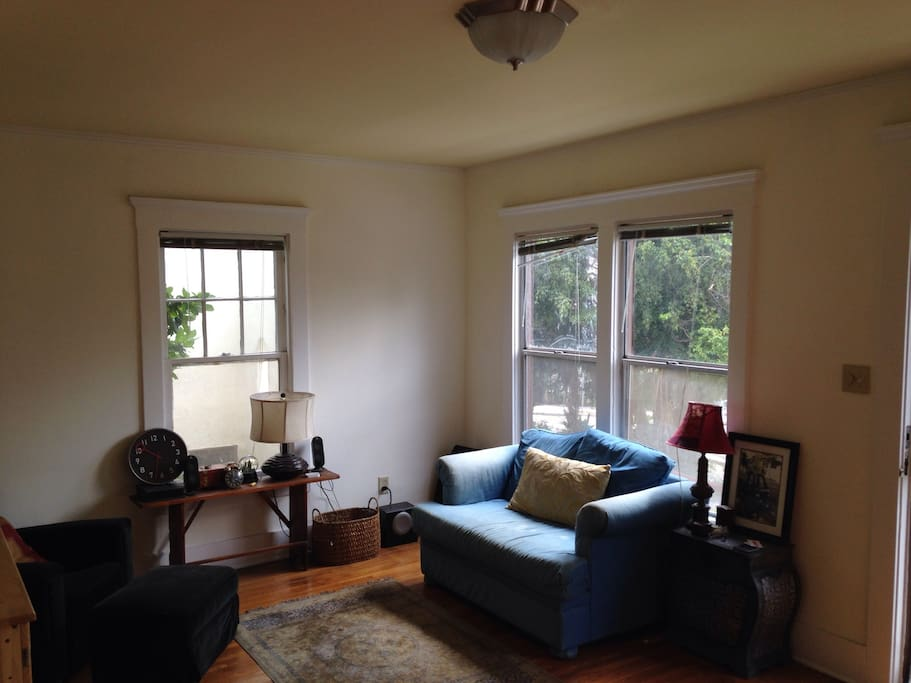 Living room: tons of natural light and plenty of space