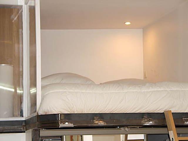 sleeping area on build in mezzanine