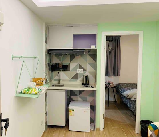 佐敦清新雙人一房A公寓#3分鐘高鐵站8分鐘機場快線