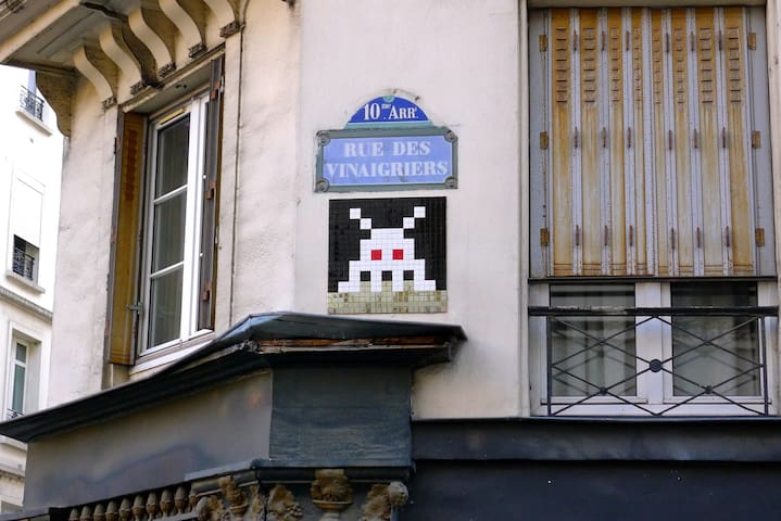 Invader has struck just on our corner, and a beauty it is too