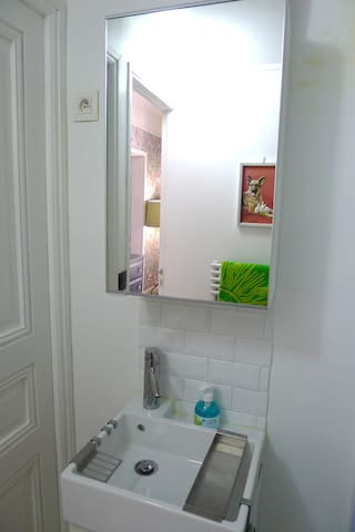 Bathroom - sink and mirror