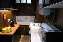 Kitchen. It's small but has most everything you'll need, including a dishwasher