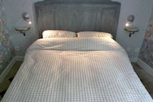Bedroom - bed is 140cm x 190cm. We provide all bedlinen and towels