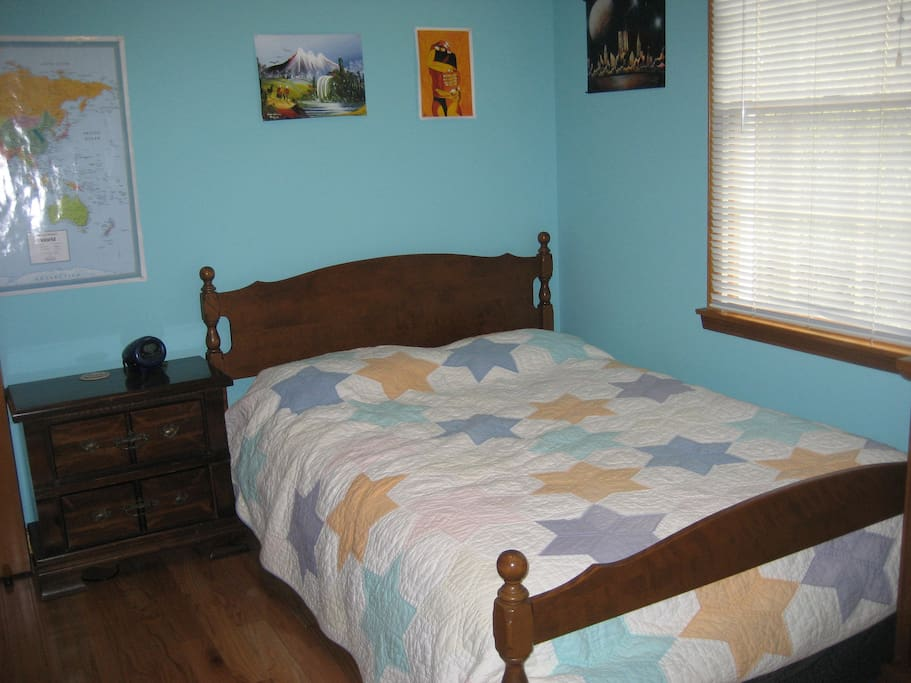 one of the bedrooms   available to guests