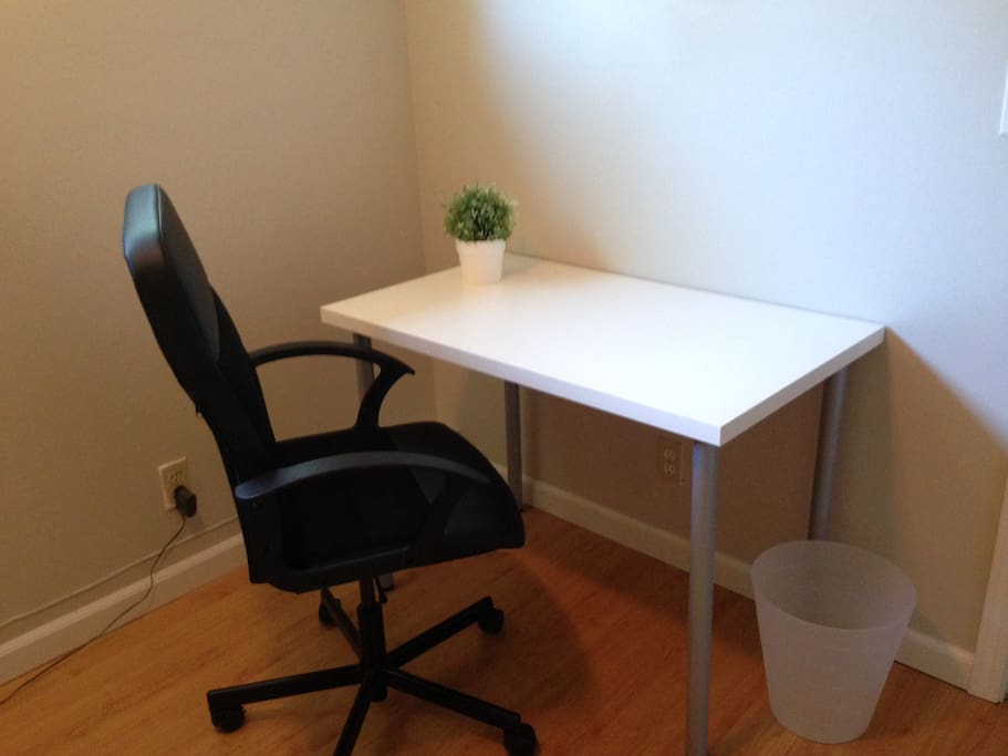 your own desk and chair in the room