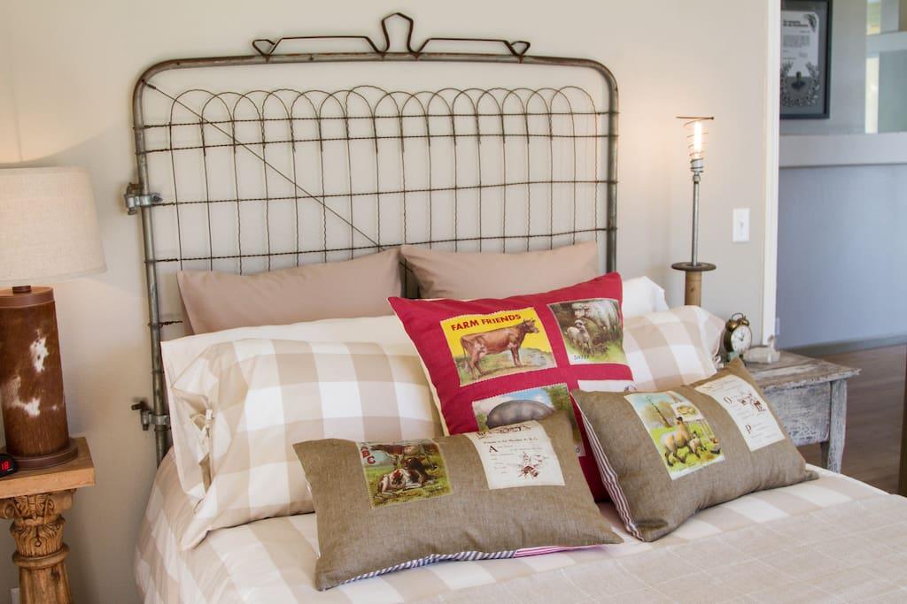 Cowboy Room has a full bed.