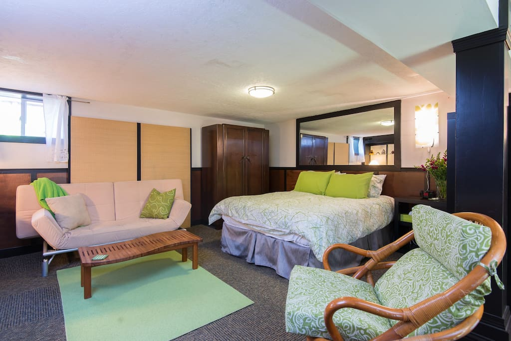 Comfortable studio with all the creature comforts you need for a short or long-term stay!