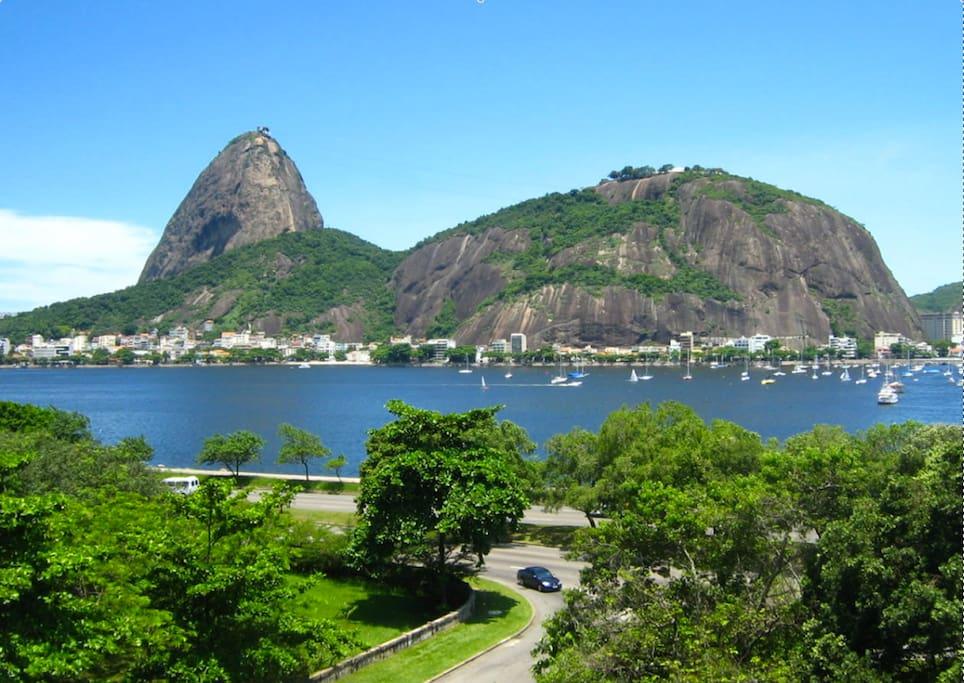 8 minutos a pé do Aterro do Flamengo e da praia  de onde se avista o Pão de açúcar