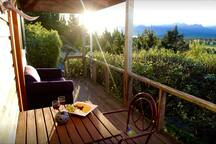 Sit back and watch the sun set from your private balcony