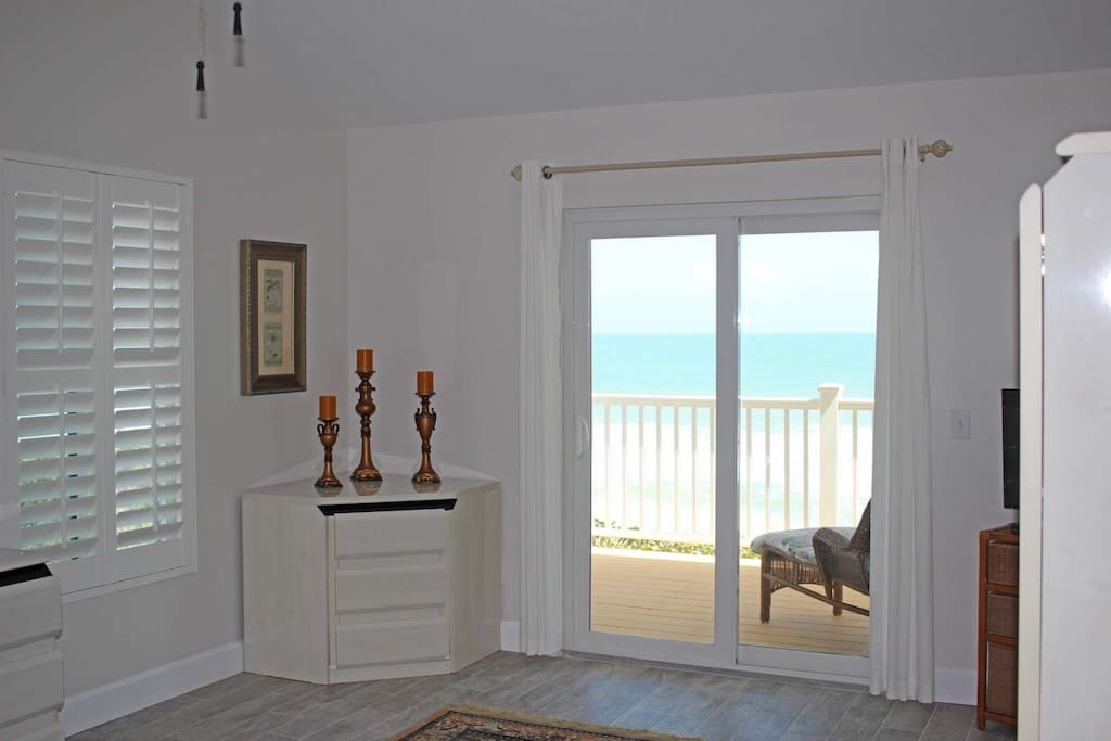 Amazing views of the ocean from the master bedroom.