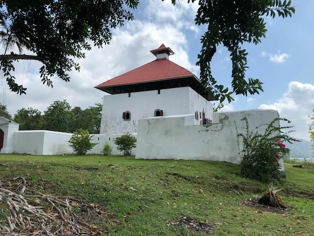 The Amsterdam Fort remains as a colonial heritage site in Ambon