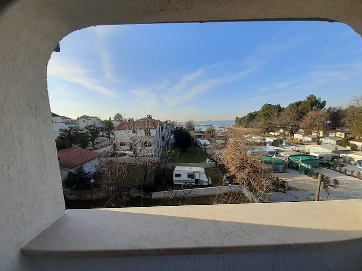HOUSE ULI NEAR THE FUNTANA BEACH / Studio Apartment Camelia 3 for 2 persons near the beach with balcony and sea view