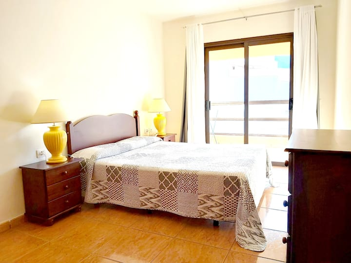 Apartment with one bedroom in San Miguel de Abona, with wonderful city view, private pool, furnished balcony