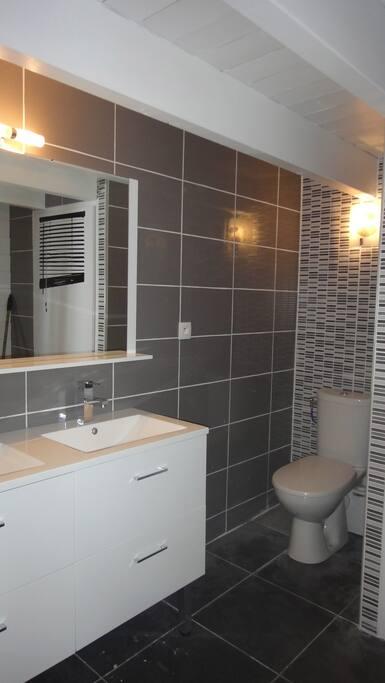 Double vasques et WC