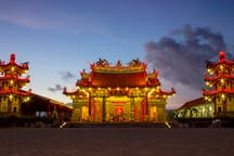 Visit around: Buddha Temple in Benoa, such amazing in evening time!