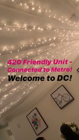 A 420 friendly Gem in DC - Connected to a Metro!
