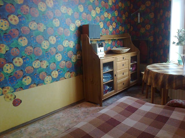 Compact room in the city center