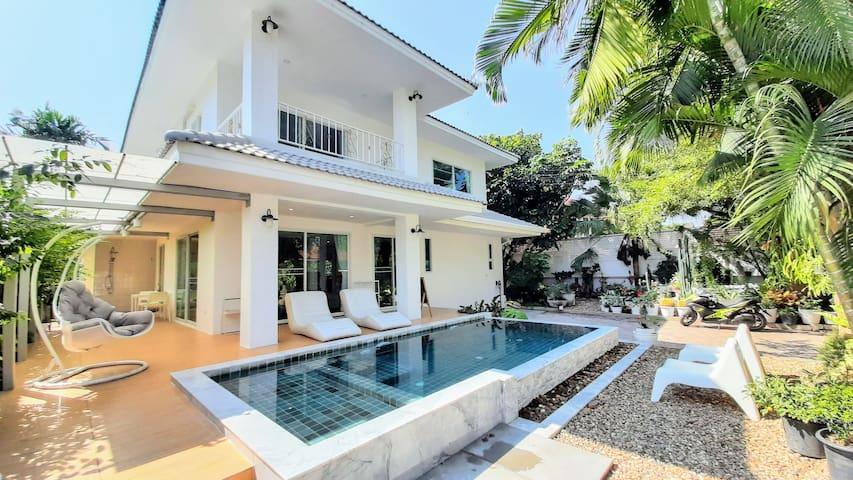 Serene Villa with Saltwater Pool & Peaceful Garden