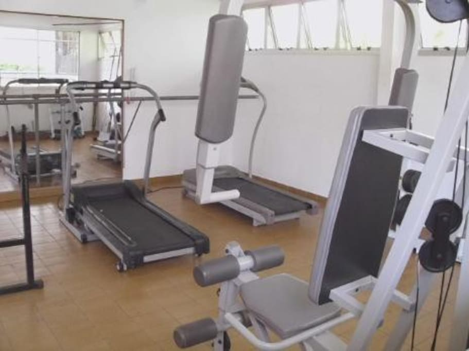 Well equipped fitness area