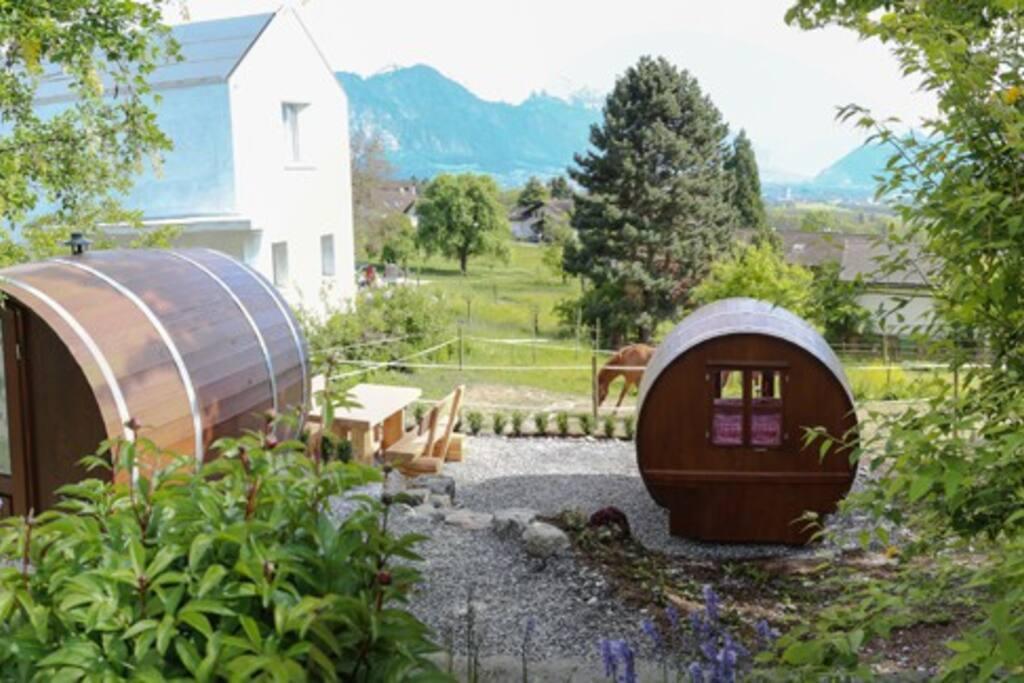 Prächtige Aussicht über das Bündner Rheintal