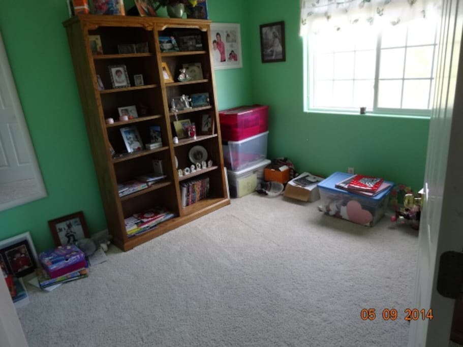 This is the third bedroom, I do have a nice comfortable blow up bed I will put in this bedroom.