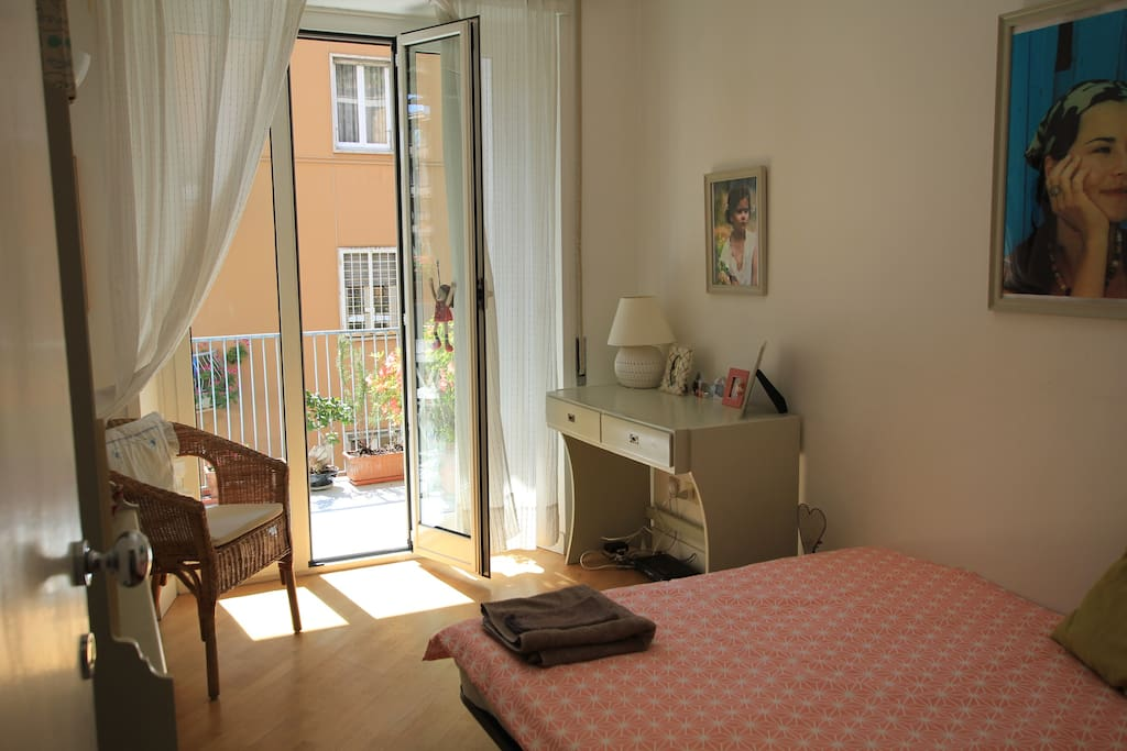 your bright private room with the access to the balcony