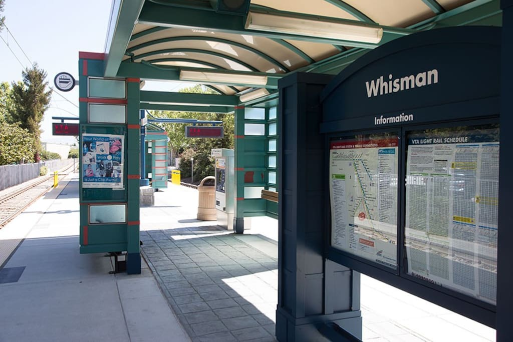 VTA light rail station is a 3 minute walk from the house!
