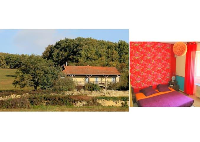 Chambre en pleine nature à 5mn de Cluny - Lournand - Casa