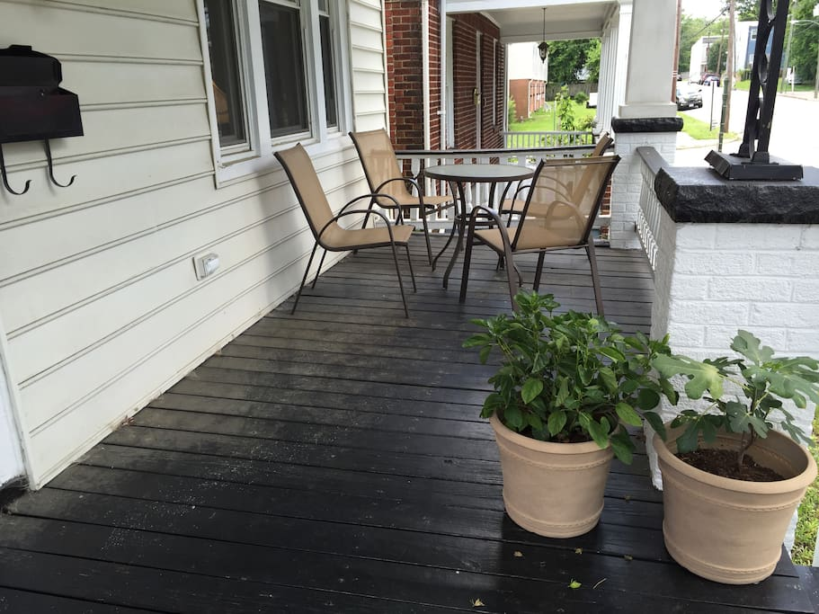 Front porch for hanging out