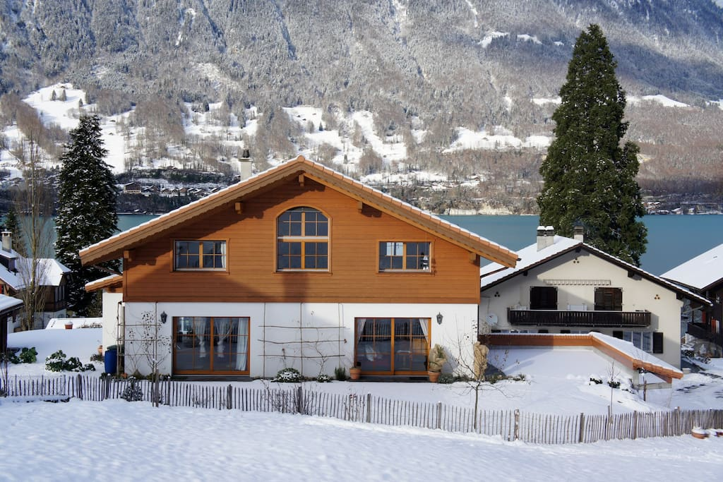 House view in winter