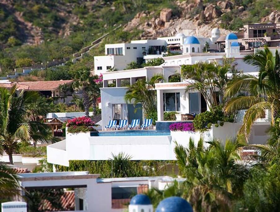 Villa Fiesta from Pedregal Beach.