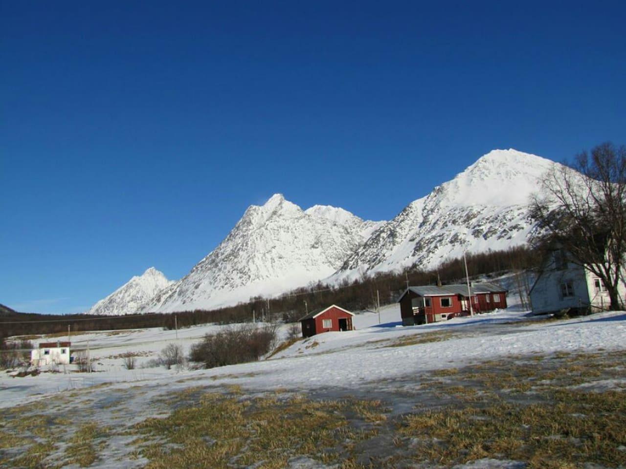 Apartment in idyllic scenery in the famous Lyngen Alps.