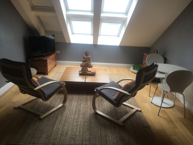 chic loft apartment opp. Truro Cathedral, Cornwall