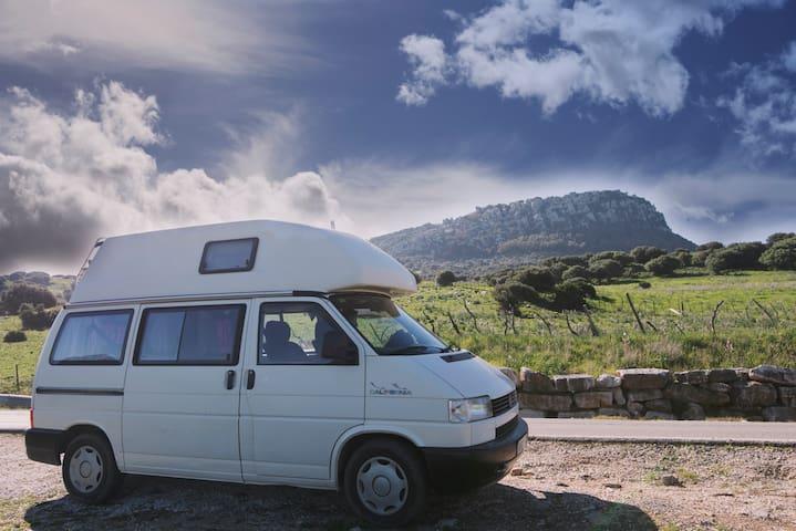 Travel Cadiz in a VW T4 California