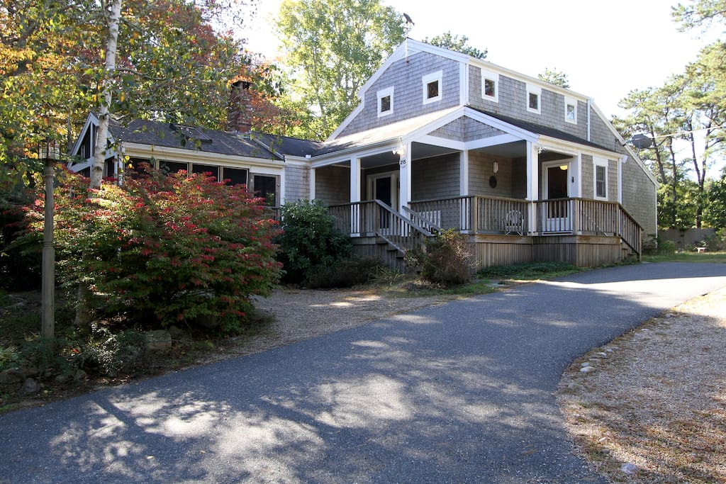 Your classic Cape Cod home, with a new large porch in front!