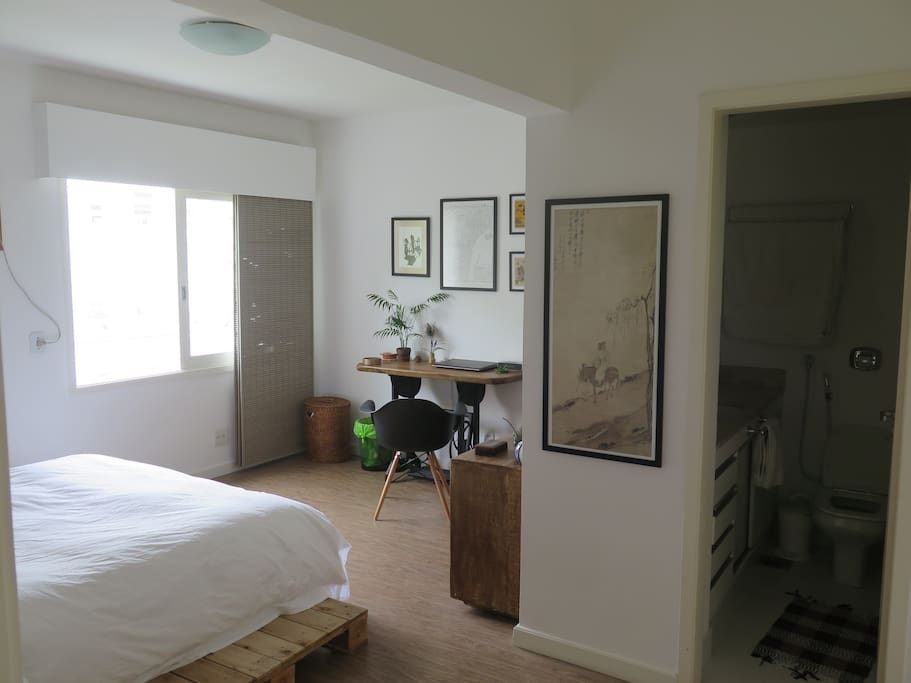 Large bedroom with desk
