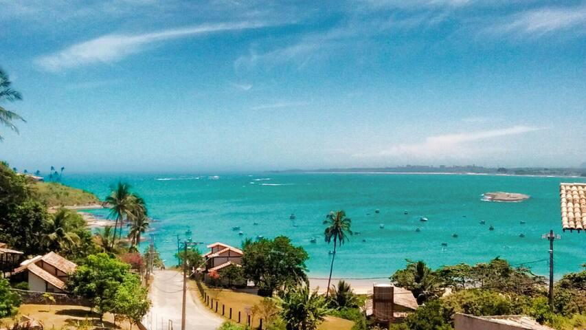 Praia de Meaipe a 600 mts da Residência  vista semi panorâmica.