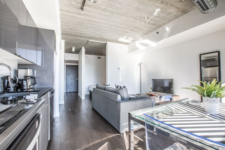 Sleek 1BR|Gym+Balcony+Rooftop|Downtown MTS Centre