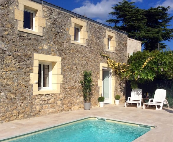 Gorgeous village cottage with pool - Gensac - Casa