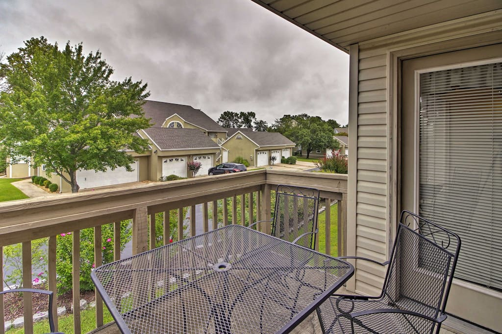 Unwind on the vacation rental's private patio, taking in the marvelous views!