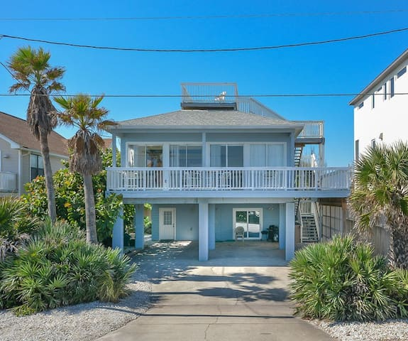 Ocean front views from this lovely 3 bedroom 3 bath beach home.